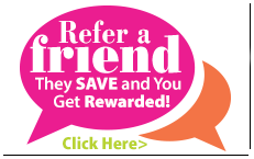Be a friend, refer a friend and you both save.